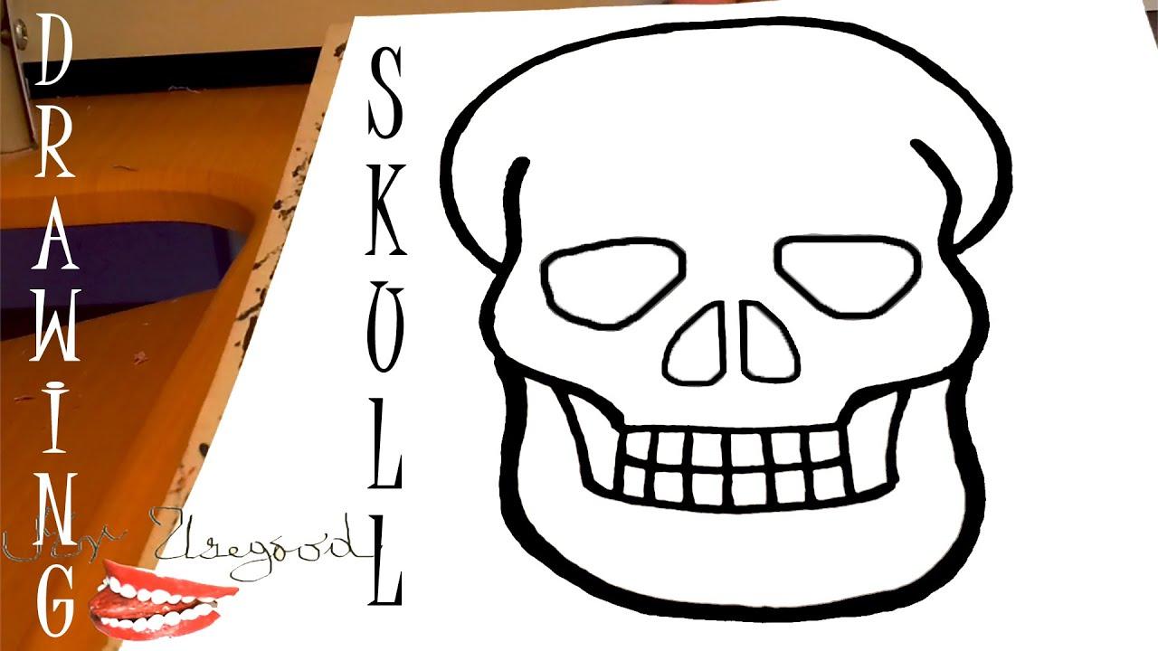 Easy Beginner Skull: How To Draw A SKULL Easy