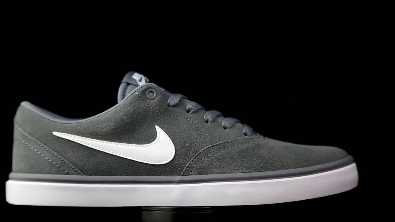 e830a55f147 Nike SB Check Solar suede gris. - YouTube