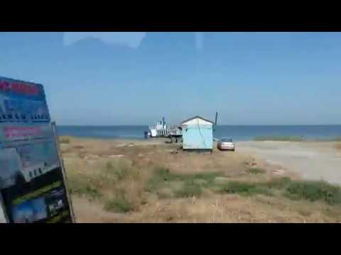 Дорога по Федотовой косе и острову Бирючий