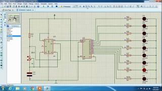 Rangkaian Running LED menggunakan PROTEUS | ic555 | ic4017