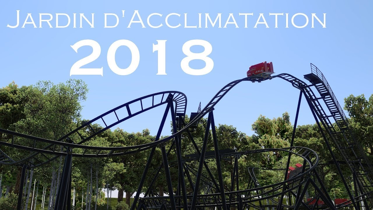 New Coaster At Jardin D Acclimatation 2018 Simulation Pov Youtube