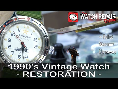 Restoration Of A 1990's Vostok Amphibia/Komandirskie Military Watch + Pallet Warmer Demo & Giveaway!
