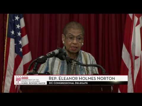 Mayor Bowser, Congresswoman Norton Urge Congress to Restore DC Delegate's Vote, 1/3/17