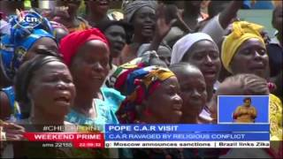 Pope Francis arrives in Bangui, the capital of Central African Republic