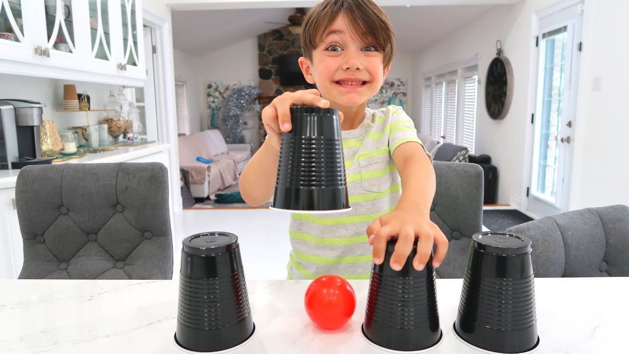 Playing the Cup and Ball Game with Learn and Play with Zack