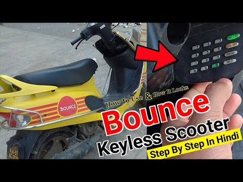Bounce Keyless Scooter | How To Use | How It Looks | All About Bounce Rental Scooter In Hindi