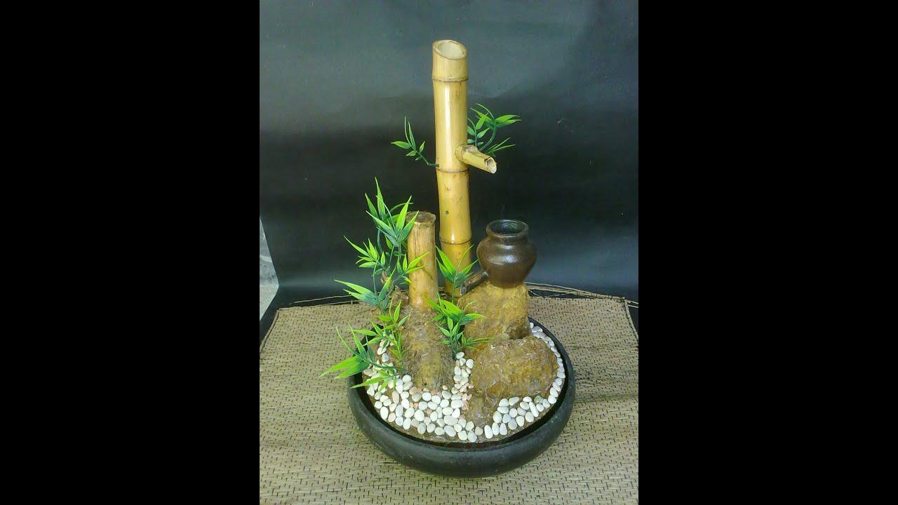 Miniatur air mancur bambu  YouTube