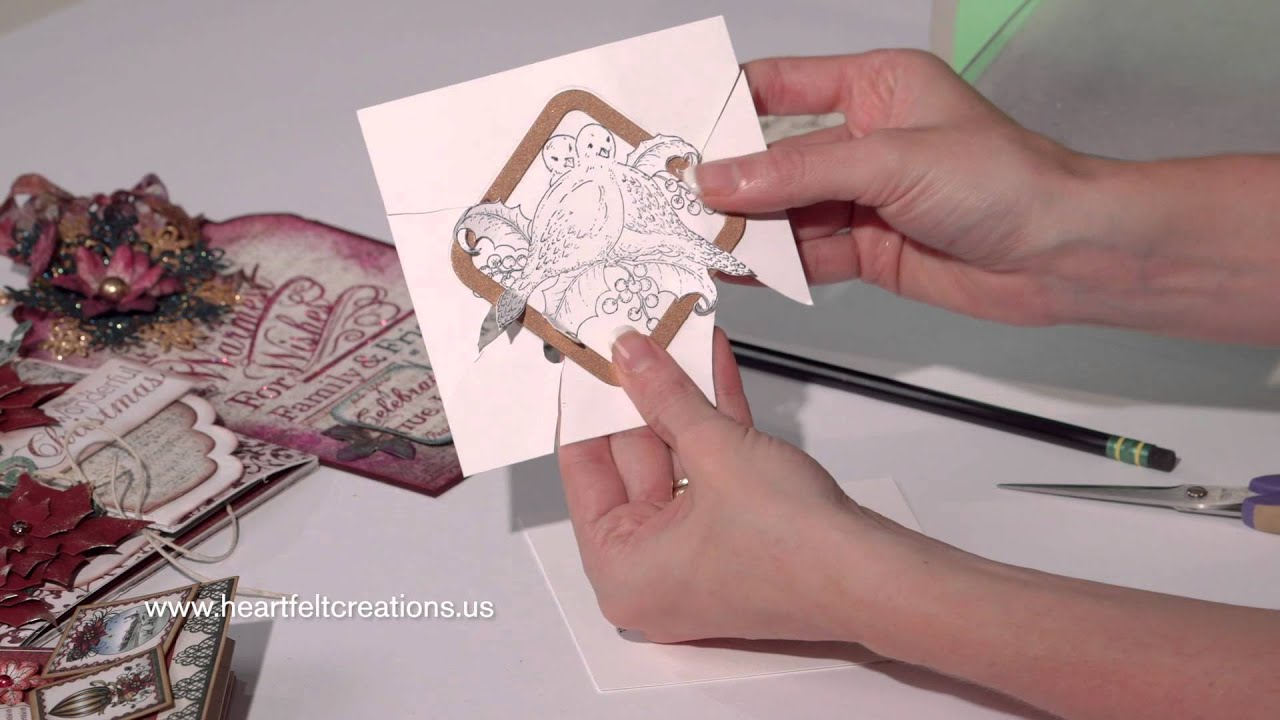 Christmas Card Making Quick Dimension And Sparkling