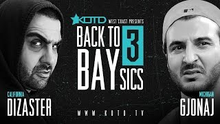 Gambar cover KOTD - Rap Battle - Dizaster vs Gjonaj | #B2B3