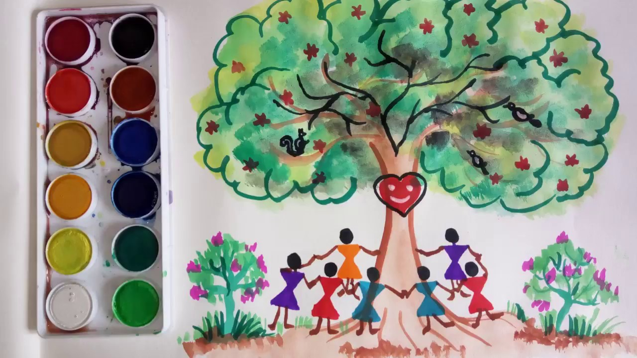 World Environment Day Drawing World Nature Conservation Day