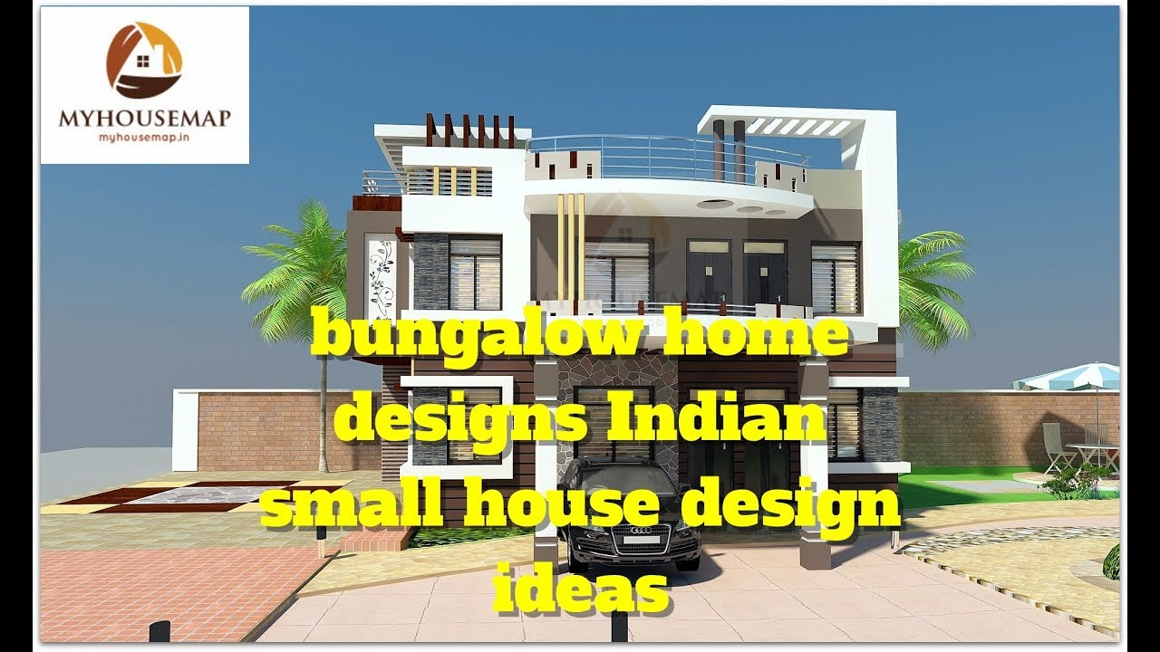 bungalow home designs | Indian small house design ideas - YouTube
