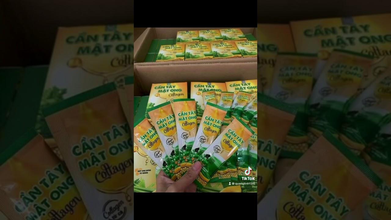 Cần tây mật ong colagen