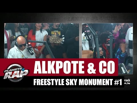 Youtube: Alkpote & Co – Freestyle Sky Monument #1 avec Luv Resval & Savage Toddy #PlanèteRap