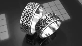 Авторские обручальные кольца из белого золота с узором(, 2013-11-20T21:30:45.000Z)