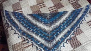 Моя ажурная шаль KIRI - вязание спицами