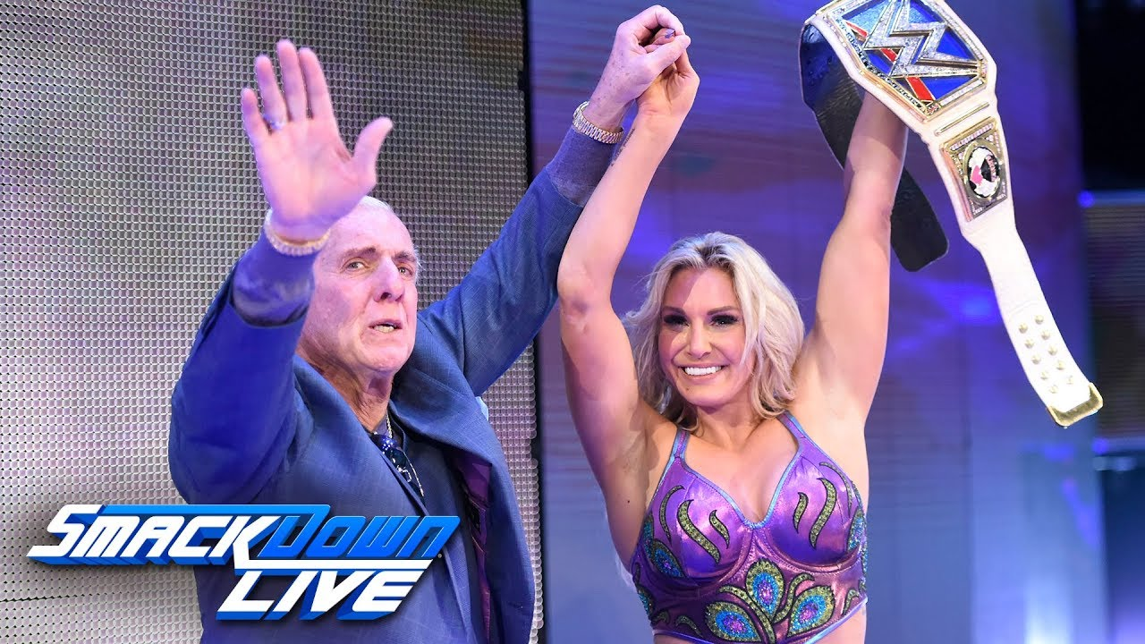Ric Flair Surprises Charlotte To Celebrate Her Championship Win Smackdown Live Nov 14 2017