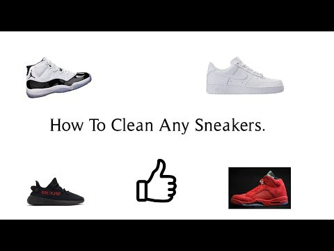How to Clean any SNEAKERS.(Create a free sneaker cleaning kit)