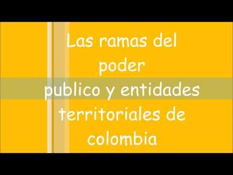 Ramas del poder publico y entidades territoriales de colombia