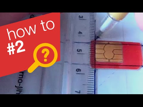 How to make a micro SIM card - easy!!!