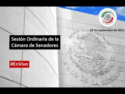 Sesión Ordinaria de la Cámara de Senadores.