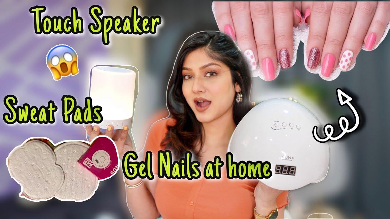 Gel Nails Kit, Sweat Pads, Touch Lamp Speaker, Colored lenses : *HUGE* Haul 🔥   Manasi Mau