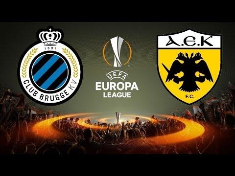 Club Brugge K.V. vs A.E.K. Athens F.C. 0-0 Europa League Play Offs FULL MATCH 1st Leg (17-8-2017)