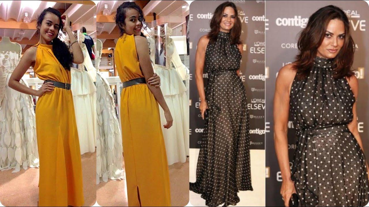 Como Costurar Vestido Longo Gola Alta Role Alana Santos Blogger