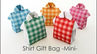Origami Shirt Bag Mini シャツ型ギフトバッグミニ【折り紙】