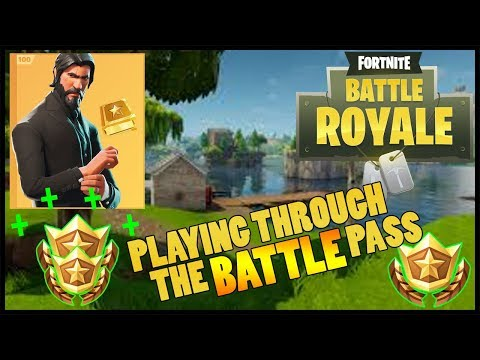 PLAYING THROUGH THE BATTLE PASS || Fortnite Battle Royale ||
