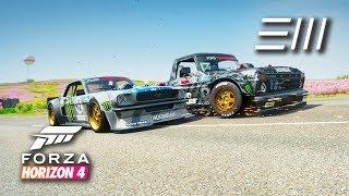 """Forza Horizon 4 - """"Hoonitruck"""" Ford F-150 vs """"Hoonicorn"""" Mustang!"""