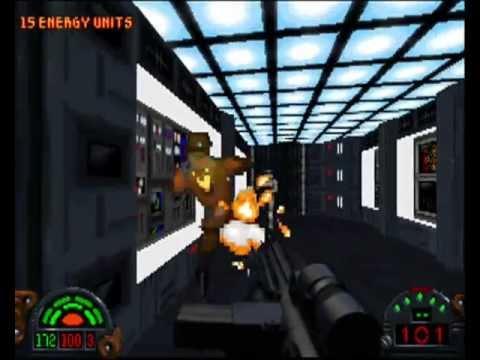 Star Wars Dark Forces (PC DOS) - level 1 - Secret Base (100% Secrets)