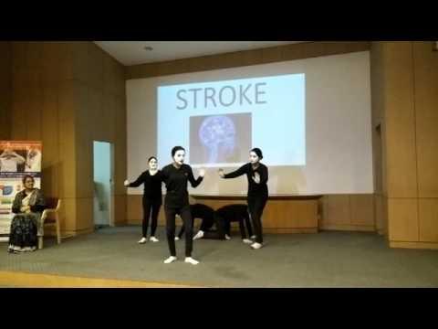 World Stroke Day 29th October 2015, CMC, Ludhiana, Stroke awareness Mime in Hindi