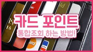 카드 포인트 통합조회 사이트 ✅