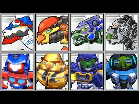 Dino Robot Corps + Angry Birds Transformers - Full Game Play