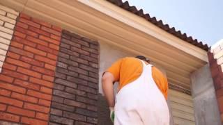 видео Отделка цоколя дома клинкерной плиткой