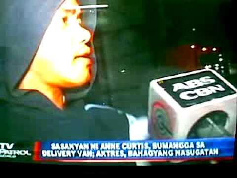 Anne Curtis Car Accident In Quezon City