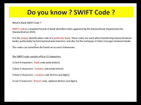 BANK SWIFT CODE WHAT