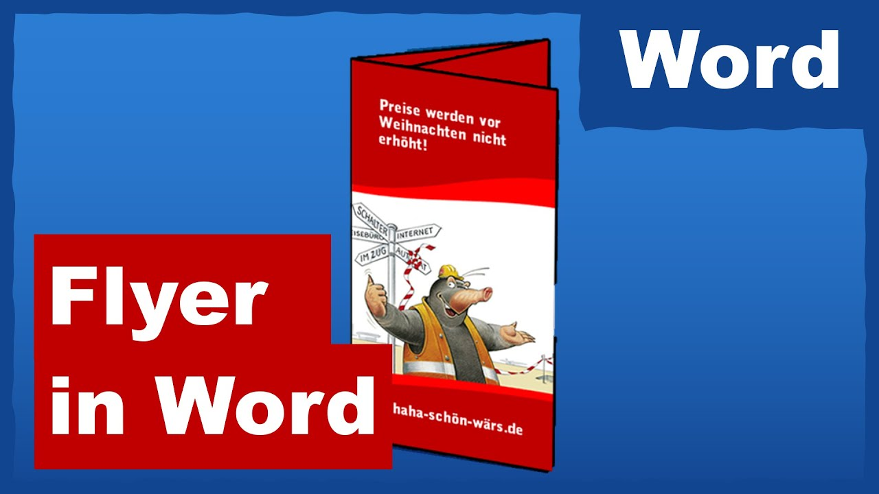 Flyer selber machen in Word - YouTube