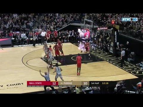 First Half Highlights: Ball State at Purdue | Big Ten Basketball