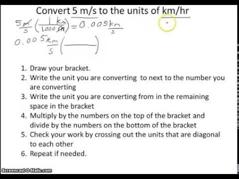Converting Units of Speed