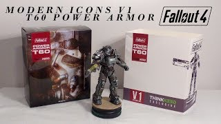 Modern Icons V1 - Fallout 4 T-60 Power Armor Statue unboxing