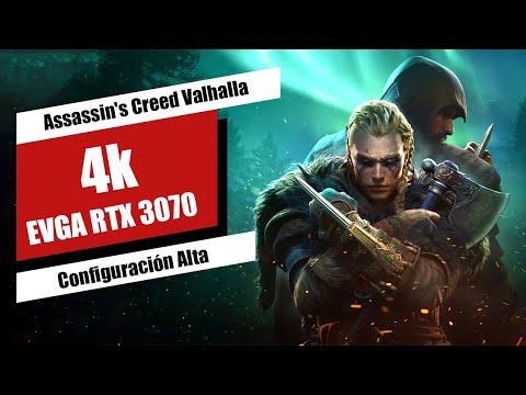 Assassin's Creed Valhalla 4K PC Configuración Alta, i7 10700K, EVGA RTX 3070 FTW ULTRA
