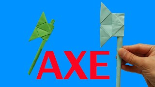 Kağıttan balta nasıl yapılır - Origami balta yapımı