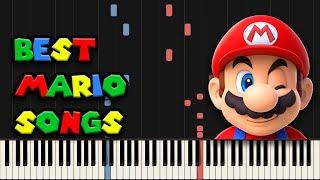 Best MARIO Songs on Piano (Super Mario Piano Medley)
