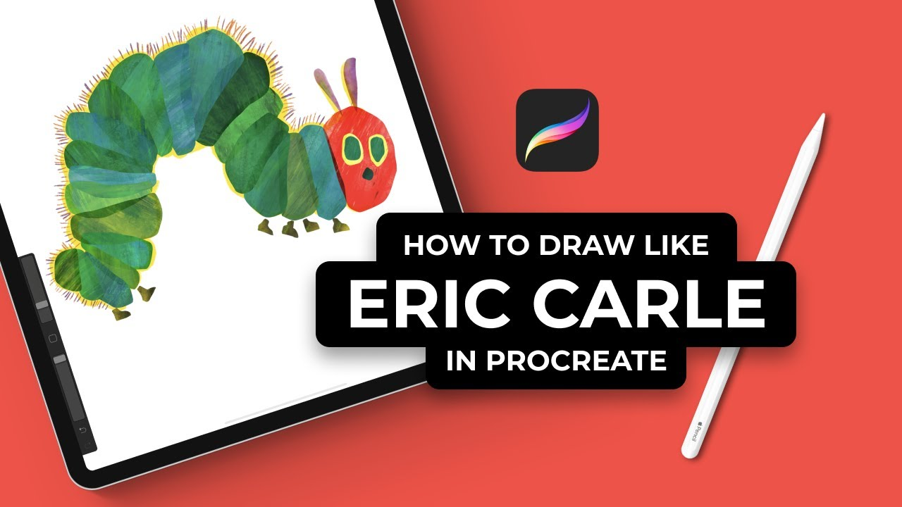 How To Draw The Very Hungry Caterpillar By Eric Carle In Procreate (#Shorts)