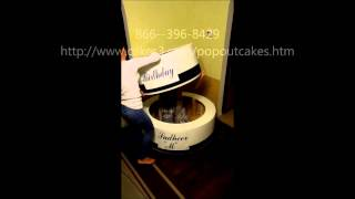 Jump Out Popout Cake instructions Delivery same day 50 states