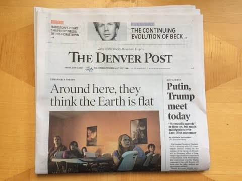 Flat Earth Above the Fold - The Denver Post