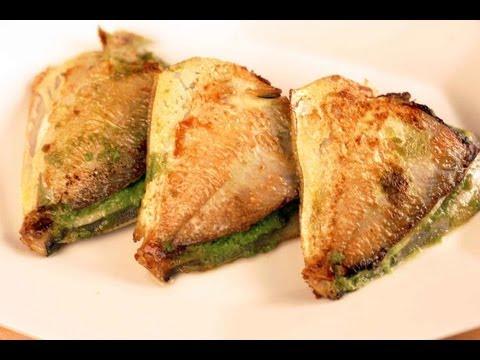 Bharlela Paplet (Stuffed Pomfret Fish)