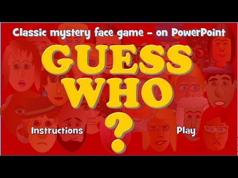 Guess Who The Classic Mystery Face Game On Powerpoint Free To