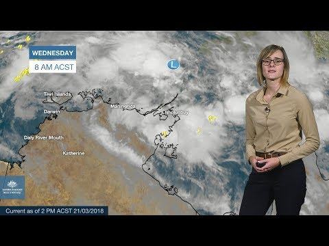 ⚠SEVERE WEATHER UPDATE:  Possible tropical cyclone near the Top End of the NT, 21 March 2018